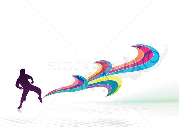 маг магия власти абстракция ногу Сток-фото © redshinestudio
