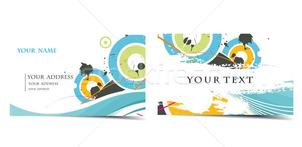 ベクトル 名刺 セット もっと タイプ ビジネス ストックフォト © redshinestudio