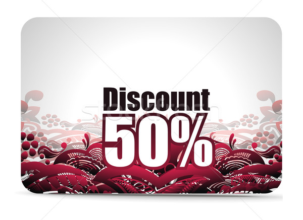 Discount card Stock photo © redshinestudio