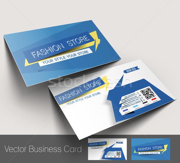 Mode magasin carte de visite papier affaires Photo stock © redshinestudio