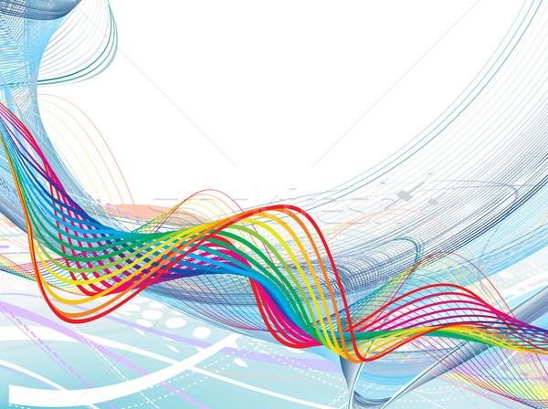 Abstrato arco-íris onda linha espaço textura Foto stock © redshinestudio