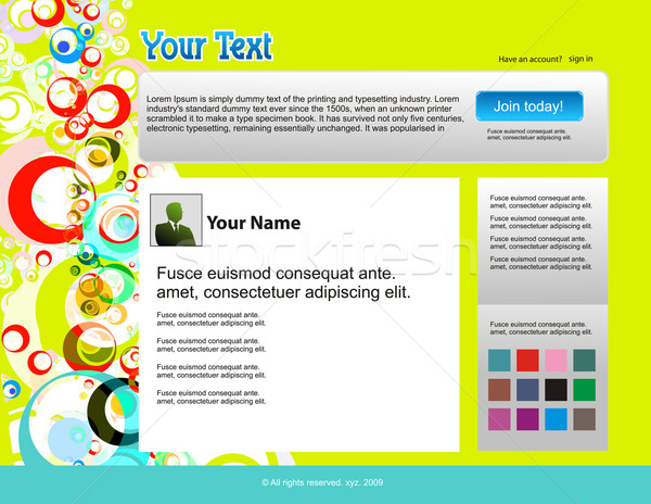 Twitter témák website design sablon üzlet internet Stock fotó © redshinestudio