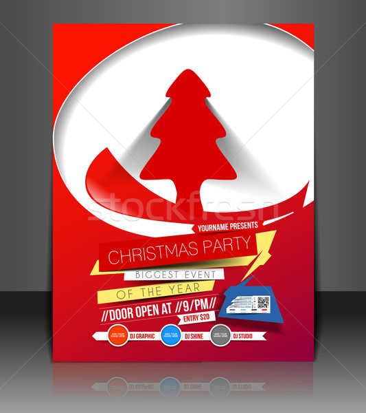 Christmas Party Flyer Stock photo © redshinestudio