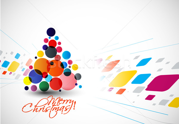 Modern Christmas Tree Background Stock photo © redshinestudio
