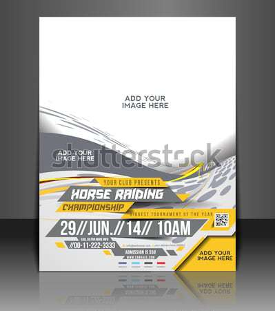 Horse Riding Flyer Stock photo © redshinestudio