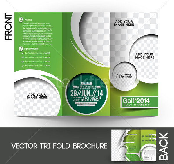 Golf toernooi brochure omhoog ontwerp abstract Stockfoto © redshinestudio