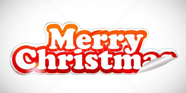 Рождества наклейку белый вектора бизнеса служба Сток-фото © redshinestudio