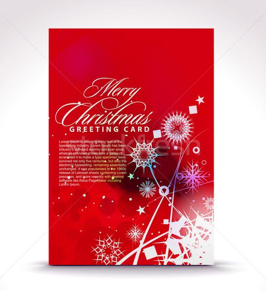 Christmas greeting card Stock photo © redshinestudio