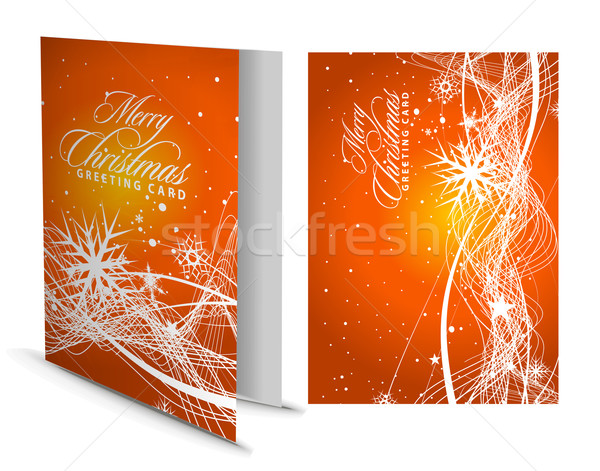 クリスマス グリーティングカード プレゼンテーション デザイン 幸せ ファッション ストックフォト © redshinestudio
