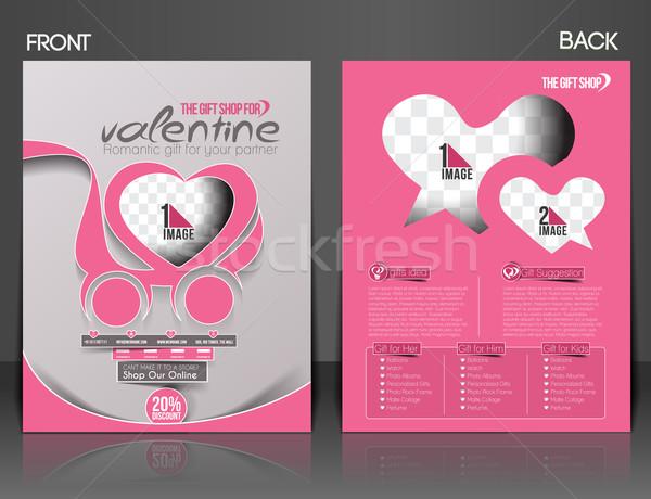バレンタインデー チラシ ポスター カバー テンプレート ビジネス ストックフォト © redshinestudio