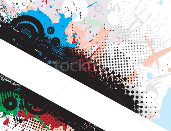 Гранж Баннеры пространстве аннотация дизайна Сток-фото © redshinestudio