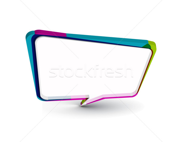 messenger window icon  Stock photo © redshinestudio