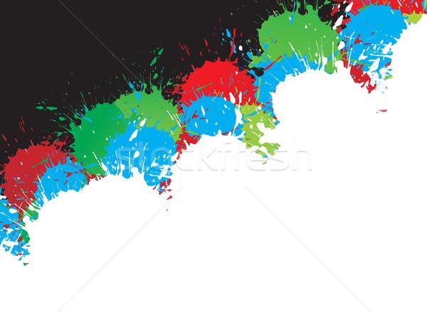 ink splat design Stock photo © redshinestudio