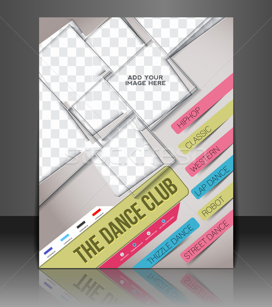 Dance Club Flyer  Stock photo © redshinestudio