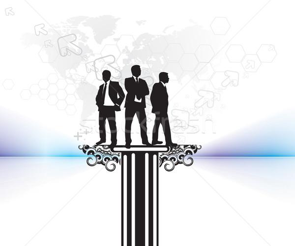 silhouette business people  Stock photo © redshinestudio