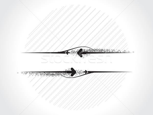 グランジ バナー スペース 背景 星 波 ストックフォト © redshinestudio