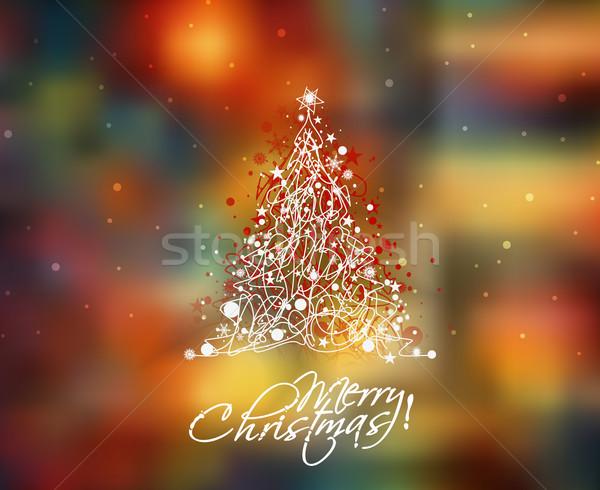 Christmas Tree Background Stock photo © redshinestudio