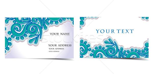 вектора визитной карточкой набор больше тип бизнеса Сток-фото © redshinestudio