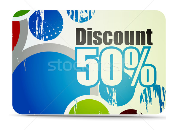 Discount card Stock photo © redshinestudio
