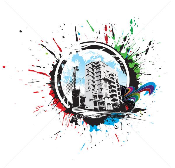 Abstract urban city Stock photo © redshinestudio