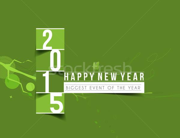 Happy new year 2015 affaires fête mode résumé Photo stock © redshinestudio