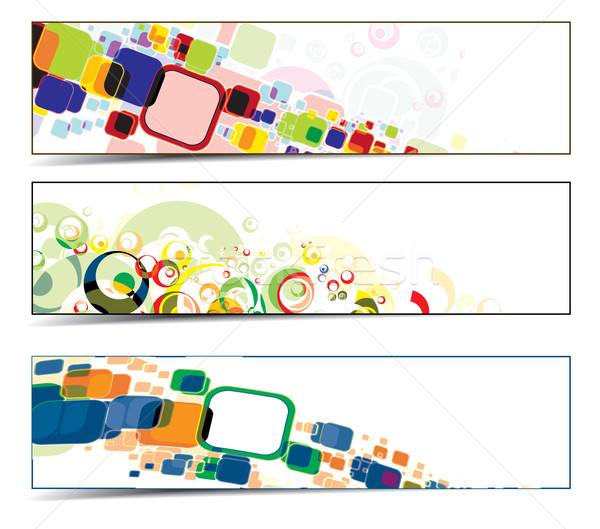 colorful banners Stock photo © redshinestudio