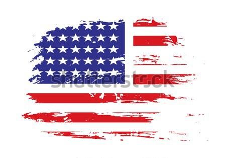 Croatia flag stand banner design, vector illustration. Stock photo © redshinestudio