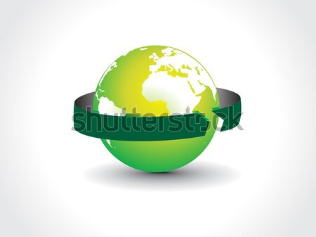 arrow globe  Stock photo © redshinestudio