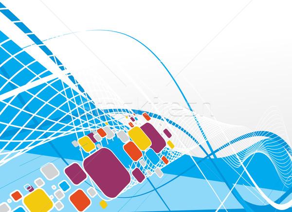 аннотация волна линия пространстве текстуры фон Сток-фото © redshinestudio