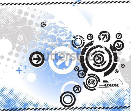 abstract arrow circle banner Stock photo © redshinestudio