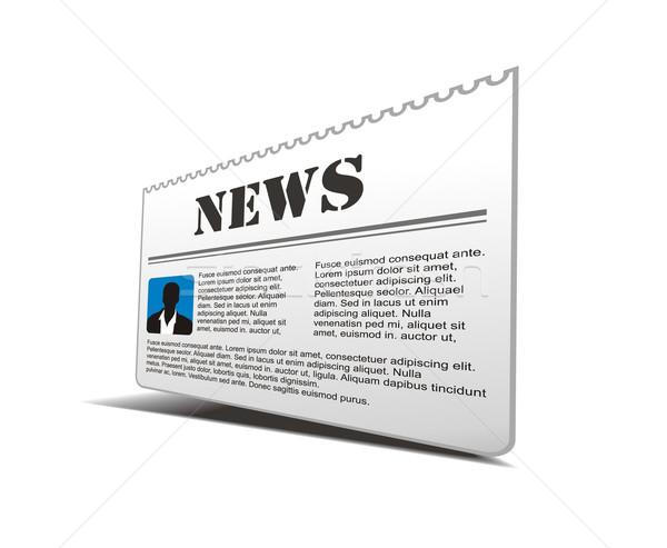 newspaper icon  Stock photo © redshinestudio