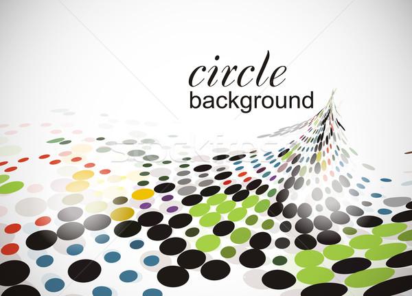 полутоновой круга аннотация копия пространства оранжевый пространстве Сток-фото © redshinestudio