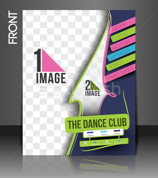 Dance Academy Flyer  Stock photo © redshinestudio