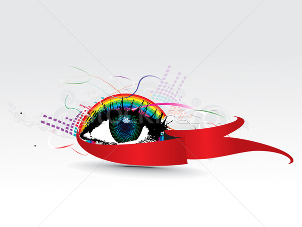 colorful eye  Stock photo © redshinestudio