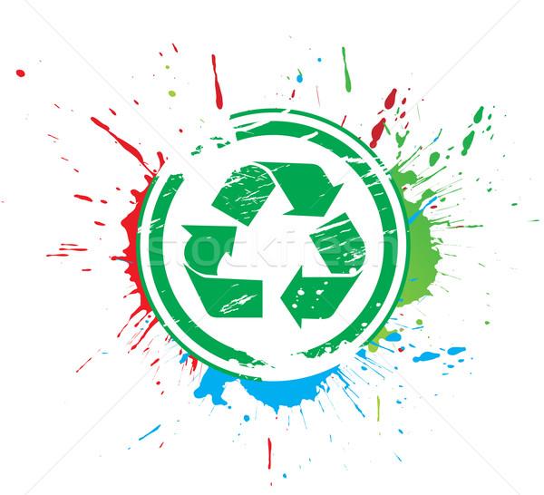 recycle icon Stock photo © redshinestudio