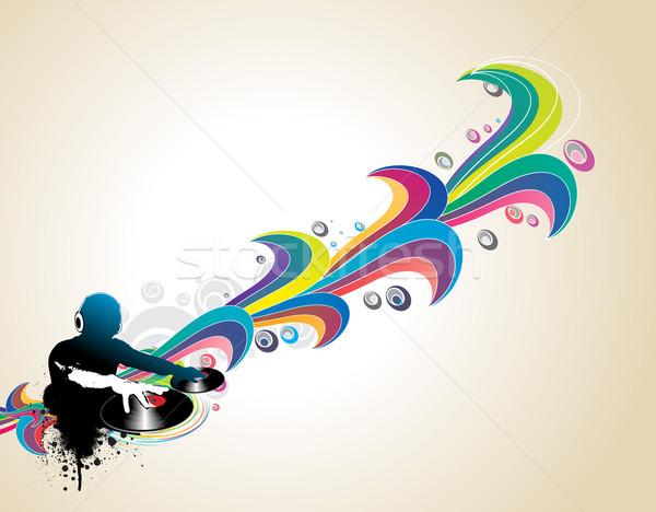 музыку аннотация человека играет сведению стороны Сток-фото © redshinestudio