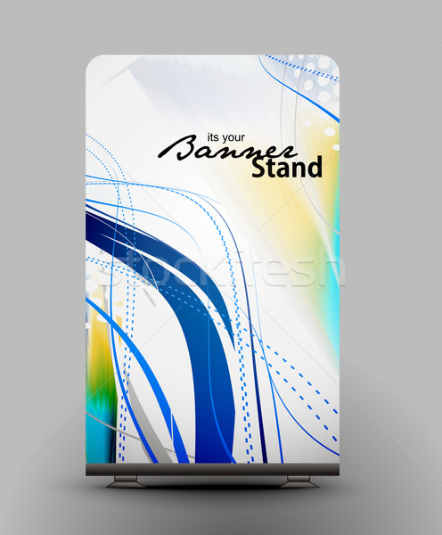stand banner template Stock photo © redshinestudio