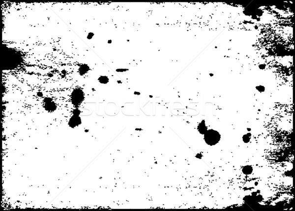 Grunge encre éclaboussures vecteur format Photo stock © redshinestudio