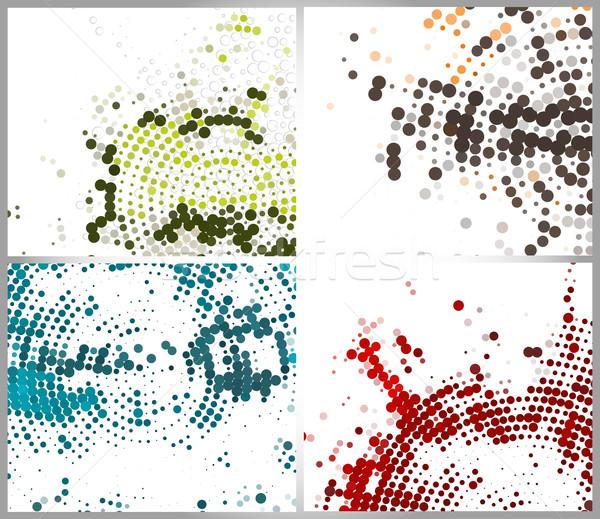 ハーフトーン サークル 抽象的な コピースペース オレンジ スペース ストックフォト © redshinestudio