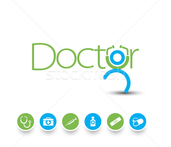 Medical icons  Stock photo © redshinestudio