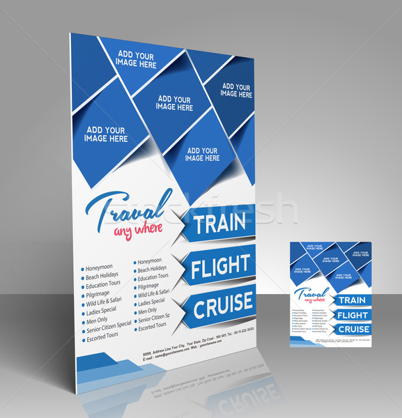 Travel center Flyer Stock photo © redshinestudio