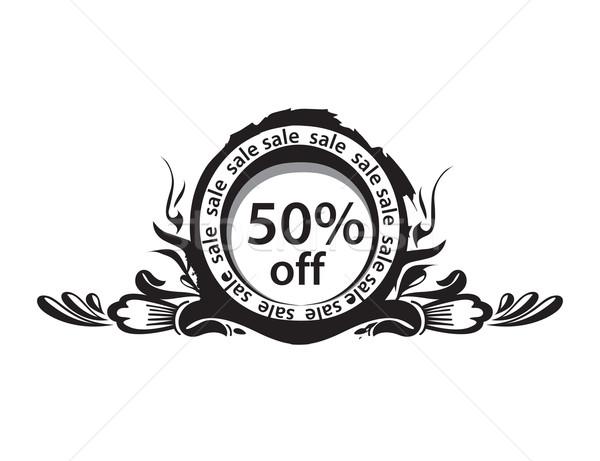 Descuento banner 50 compras imagen dinero Foto stock © redshinestudio