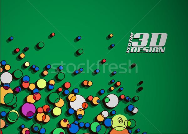 Deeltjes abstract kleurrijk textuur achtergrond ruimte Stockfoto © redshinestudio