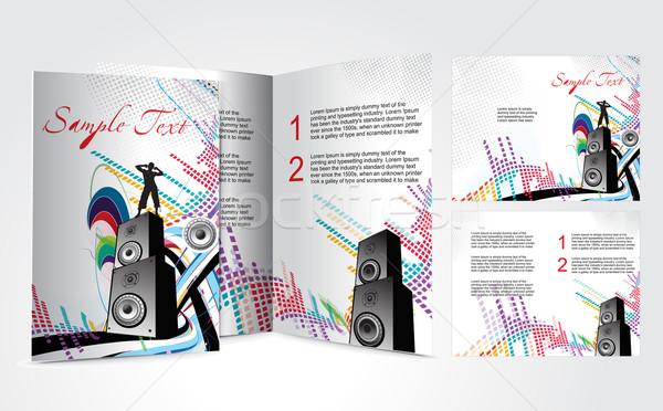 パンフレット デザイン 音楽 ベクトル 紙 芸術 ストックフォト © redshinestudio