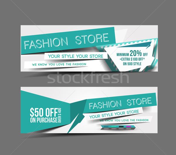 Fashion Store Web Banner Stock photo © redshinestudio