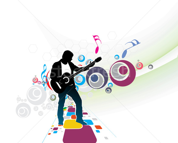 music men Stock photo © redshinestudio