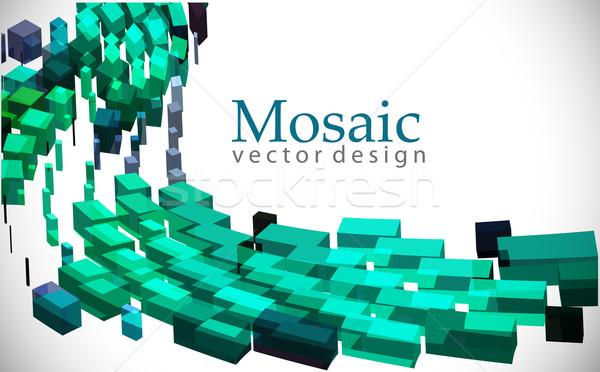 3d mosaic background Stock photo © redshinestudio