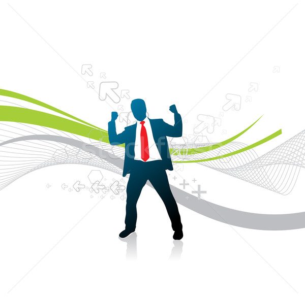 silhouetted businessman Stock photo © redshinestudio