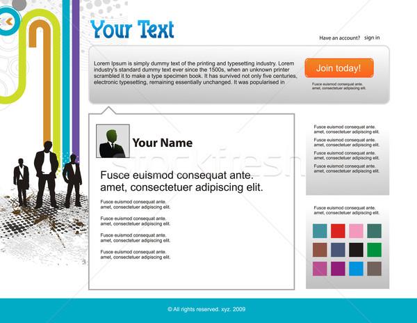 Twitter progettazione di siti web modello business internet Foto d'archivio © redshinestudio