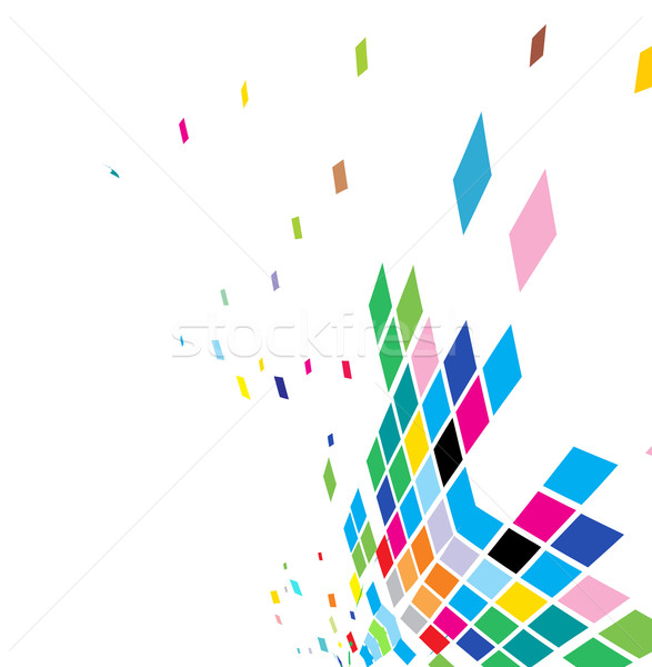 abstract mosaic composition Stock photo © redshinestudio